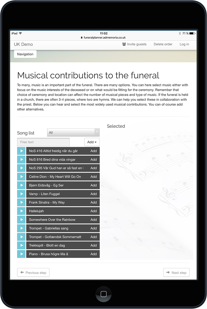 funeral planner adstate